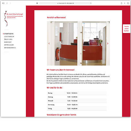 Website Praxis Dr. Petra Schüngel by Katja Hofmann, Studio for good Design